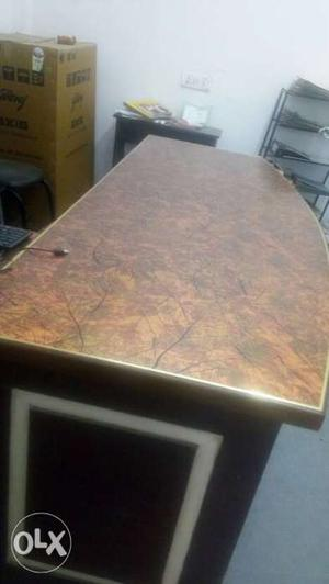 Rectangular Brown Wooden office Table