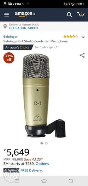 Gray And Black Condenser Microphone Screenshot