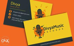 Multicolour Visiting Card Just 350 with Dillivary
