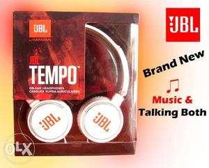3.5mm JBL print Universal on ear headphone With Mic