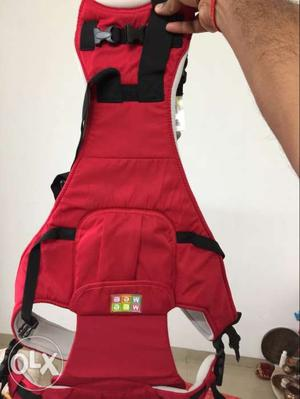 Baby's Red And Black Carrier from Mee Mee brand