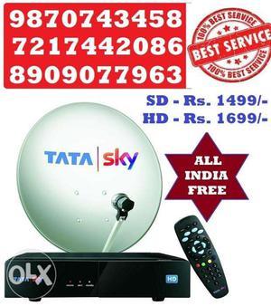 Tata Sky HD Box with 1 Month HD pack Free (COD)