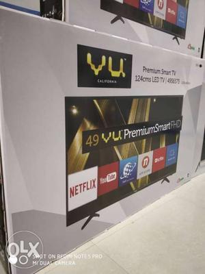 "Vu 49""(BRAND NEW) Smart Full HD Led TV 3Years Warranty EMI"