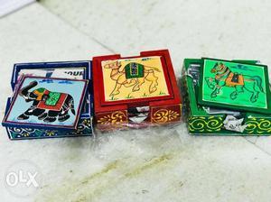 Handicraft tea coster brand new