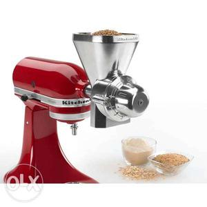Kitchen Aid Standmixer + food processor & flour mill