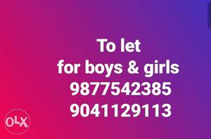 PG for girls & boys With food ac room & non ac