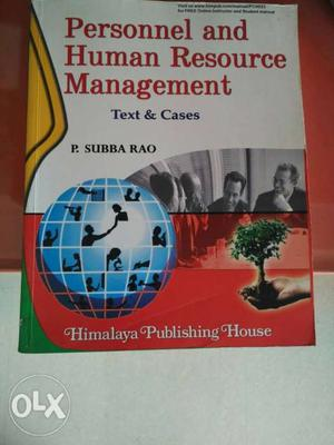 Personnel And Human Resource Management Book