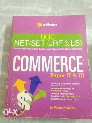 UGC NET/SET (JRF & LS) Commerce Paper 2 And 3 By Dr. Vineet