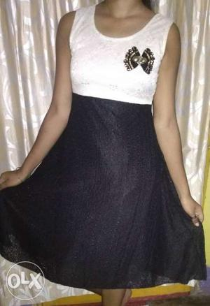 Black nd white one piece in affordable price