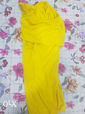 Off shoulder Bright yellow top for girls. used