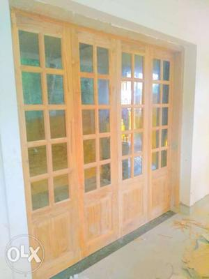 French door (full finished) teak wood..and main