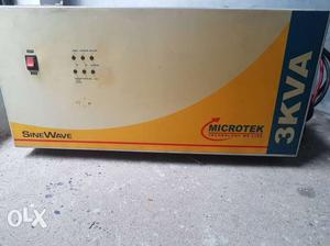 Microtek 3 KVA Inverter for office use purpose supportable 4