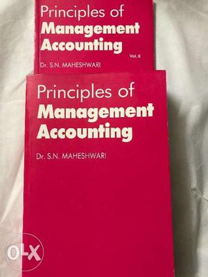 Principles of Management Accounting Set of 2