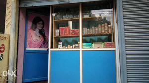 Beauty parlour with furniture nd grocery items...