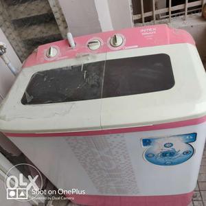 Approx 1 year old intex semi automatic washing
