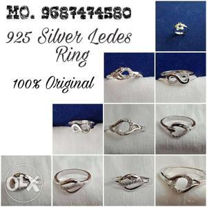925 Silver Ledes Ring
