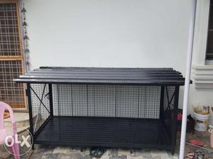Black Metal Pet Cage. Heavy and super strong. Bought and