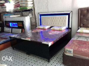 Brand New Premium double bed with easy emi option