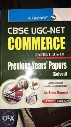 CBSE UGC NET COMMERCE Solved papers book of paper