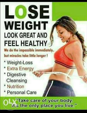 For weight loss n weight gain contact us 100%