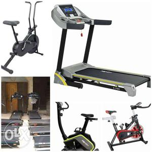 Gym cycle and treadmill on rent