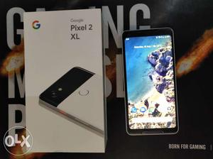 Google pixel 2XL 64gb white and black colour with