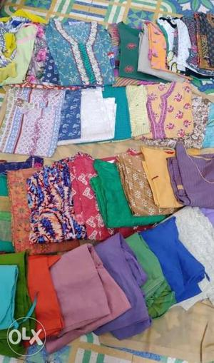 Used Large size Kurti and Salwar, 10 salwar, 32 kurti