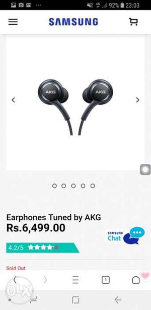Black Samsung AKG Earphones Screenshot
