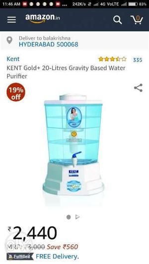 Kent gold water purifier at lbnagar