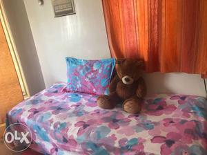 Single bed , bamboo sofa , samsung tv