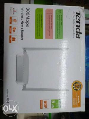 White Tenda 300 Mbps Wireless Home Router Box