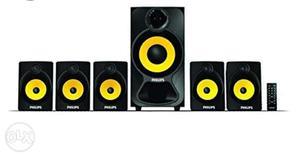 Black And Yellow Multimedia Speaker