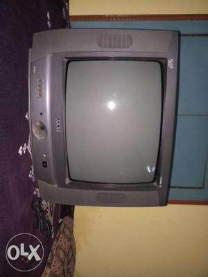 Gray CRT TV With Remote akai company