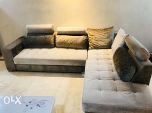 6 seater sofa set 9 ft x 6.5 ft excellent