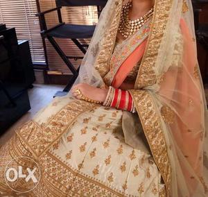 Bridal lehenga and jewellery on rent
