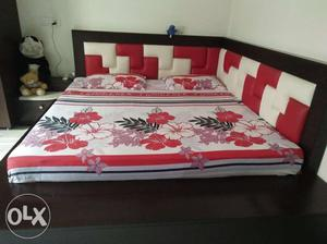 New bed with good polished veneer and comfortable