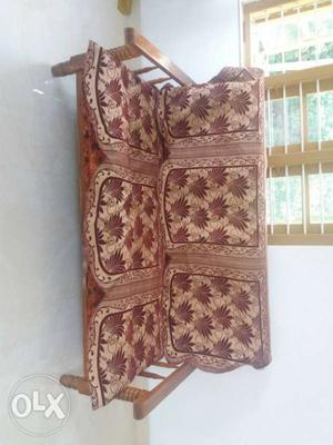 Theak wood 3+1+1 sofa set with cover