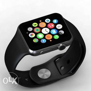 Black Bluetooth Smart Watch With Sim Card Support For
