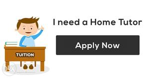 Urgently required Home Tutor For 12th