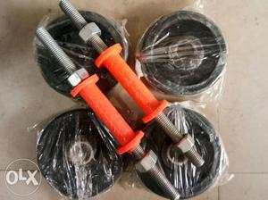 Home delivery dumbbells Rod. Rs. pc