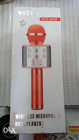 Red Wireless Karaoke Microphone Box