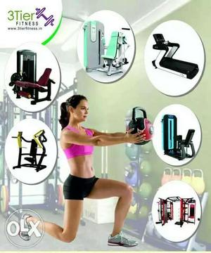 3tier fitness Pvt Ltd All gym Equipment available low price