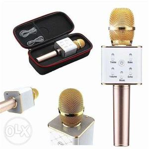 White And Gold Wireless Microphone