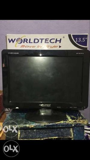 Worldtech LED 13.5 inch TV with HDMI and Pendrive