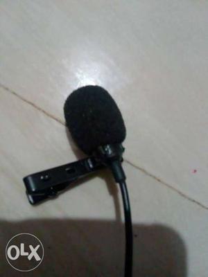 Black Headset Microphone