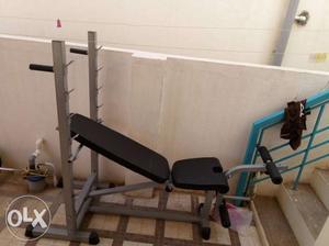 Gray Adjustable Bench Press
