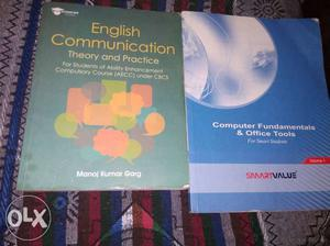 English communication book and computer