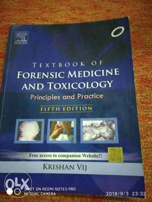 Fifth Edition Textbook Of Forensic Medicine And Toxicology