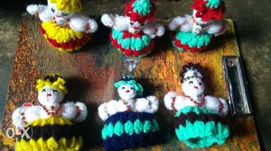 Homemade woolen doll for car and home