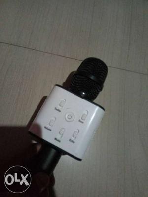 New unused White And Black karaoke Bluetooth Mic with